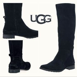 UGG {NWOT} black suede riding boots